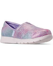 Little Girls Lil BOBS Pureflex Galaxy Dust Slip On Casual Athletic Sneakers from Finish Line