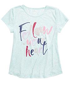 Max & Olivia Little & Big Girls Heart-Print Pajama Top, Created For Macy's