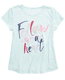 Max & Olivia Little & Big Girls Heart-Print Pajama Top, Created For Macy's