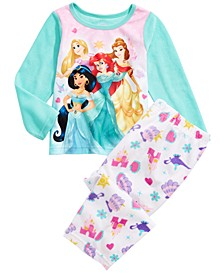 Toddler Girls  2-Pc. Fleece Princesses Pajamas Set