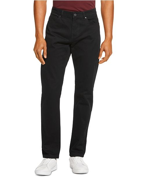 DKNY Men's Slim-Straight Fit Stretch Twill Pants, Created for Macy's