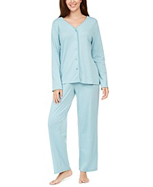 Women's Cotton Printed Pajama Set, Created For Macy's