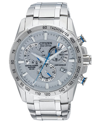 Citizen Men's Eco-Drive Perpetual Chrono A-T Stainless Exclusive