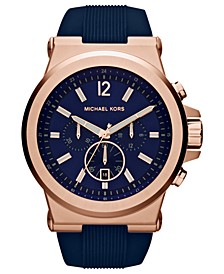 Men's Chronograph Dylan Navy Silicone Strap Watch 48mm MK8295