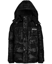 DKNY Little Boys Faux-Fur-Trim Puffer Jacket