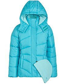 Big Girls 2-Pc. Puffer Jacket & Hat Set