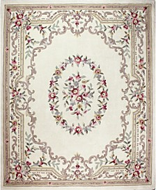 CLOSEOUT!  Palace Garden Aubusson Cream 5' x 8' Area Rug