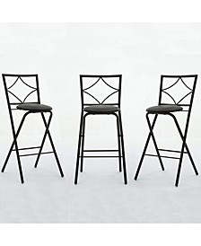 Glen Collection Folding Barstools, 3 Pack