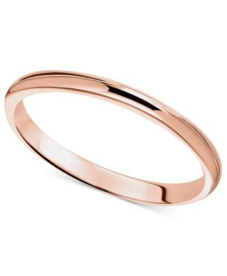 14k Rose Gold Ring 2mm Wedding Band Rings Jewelry Watches