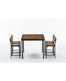 Americano Collection 5 Piece Counter Height Dining Set, Table and 4 Counter Stools