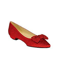 Women's Stone Flat with Bow