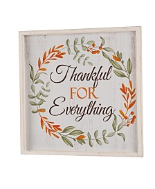 Glitzhome Wooden Thanksgiving Word Sign