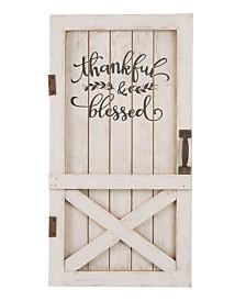 Glitzhome Wooden Thanksgiving Barn Door Decor