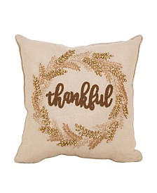 Glitzhome Embroidered Thanksgiving Throw Pillow