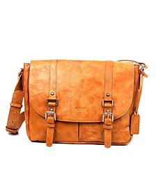 Moonlight Leather Messenger Bag