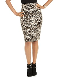 Leopard-Print Pencil Skirt, Created for Macy's