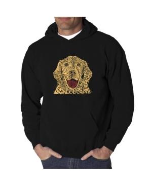 La Pop Art Men's Word Art Hooded Sweatshirt - Dog