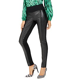 INC Curvy Faux Leather Skinny Pants, Created for Macy's
