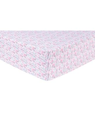 Pastel Painterly Floral Flannel Crib Sheet
