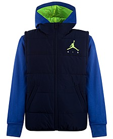 Big Boys Layered-Look Hooded Puffer Jacket, Created For Macy's