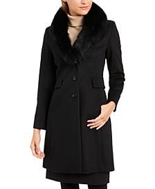 Fox-Fur-Collar Reefer Coat
