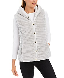 Faux-Fur Hooded Reversible Vest, Created for Macy's