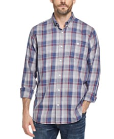Weatherproof Vintage Men's Button-Down Plaid Shirt