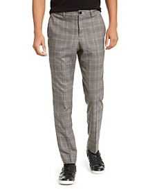 Men's Slim-Fit Glen Plaid Pants