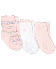 Baby Girls 3-Pk. Fair Isle Crew Socks
