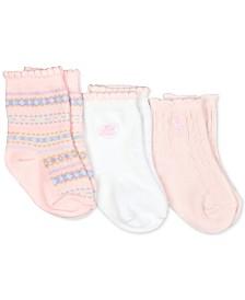 Polo Ralph Lauren Baby Girls 3-Pk. Fair Isle Crew Socks