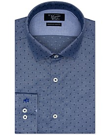 Men's Heritage Slim-Fit Performance Stretch Diamond Dobby Dress Shirt