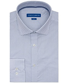 Men's Slim-Fit Performance Stretch Geo-Print Dress Shirt