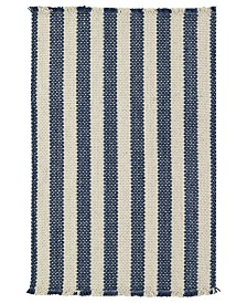 Capel Rugs, Hampton Flatweave 0404-460 Denim Stripe