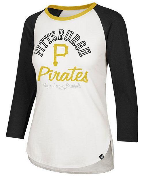 wholesale dealer ae30b dd736 Women's Pittsburgh Pirates Vintage Raglan T-Shirt