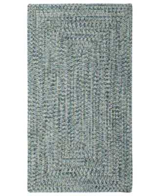 Area Rug, Indoor/Outdoor Sea Glass Rectangular Braid 0110-400 Ocean 8' x 11'