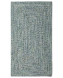 Area Rug, Indoor/Outdoor Sea Glass Rectangular Braid 0110-400 Ocean 2' x 3'