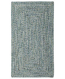 Capel Area Rug, Indoor/Outdoor Sea Glass Rectangular Braid 0110-400 Ocean 3' x 5'