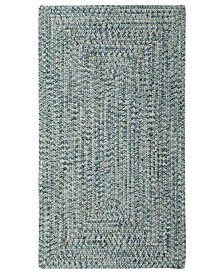 Capel Rugs, Indoor/Outdoor Sea Glass Rectangular Braid 0110-400 Ocean