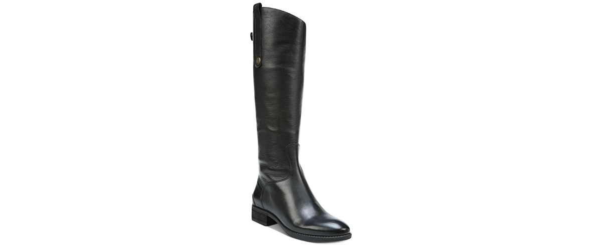 Sam Edelman Penny 2 Wide Calf Riding Leather Boots Women's Shoes