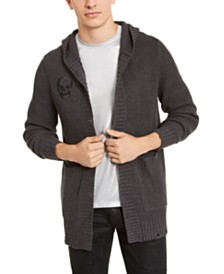 I.N.C. Men's Skull Hooded Cardigan, Created for Macy's