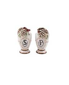 Fitz & Floyd Forest Frost Salt and Pepper Set