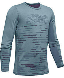 Under Armour Big Boys Seamless Logo-Print T-Shirt