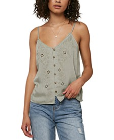 Juniors' Lylah Embroidered Tank Top
