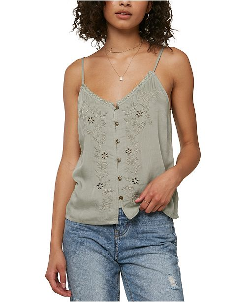O'Neill Juniors' Lylah Embroidered Tank Top