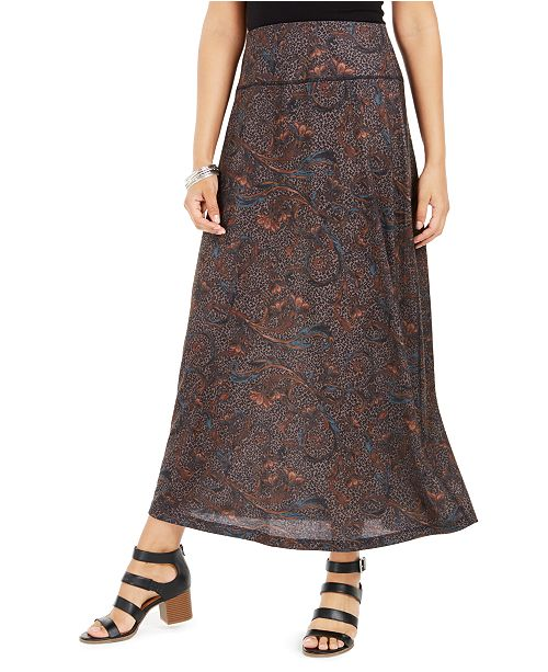 online best selling cheap price Printed Pull-On Maxi Skirt, Created for Macy's