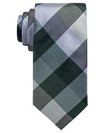 Ryan Seacrest Distinction™ Men's Weho Check Slim Silk Tie, Created for Macy's