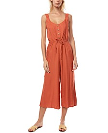 Juniors' Shawn Cropped Jumpsuit