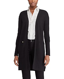 Lauren Ralph Lauren Ribbed Long Cardigan