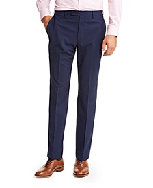 Men's Classic-Fit UltraFlex Stretch Mini-Grid Dress Pants