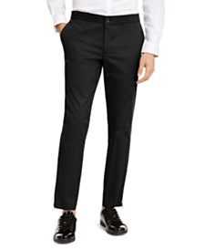 I.N.C. Men's ONYX  Slim-Fit Tech Pants, Created for Macy's
